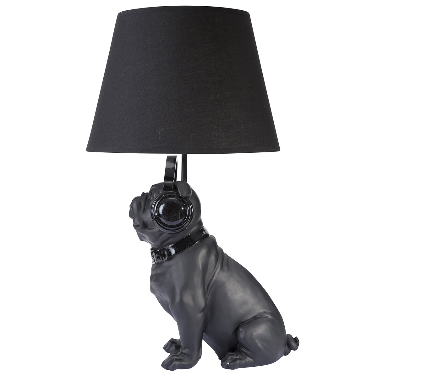 lampe bouledogue design noire avec wedestock 939. Black Bedroom Furniture Sets. Home Design Ideas
