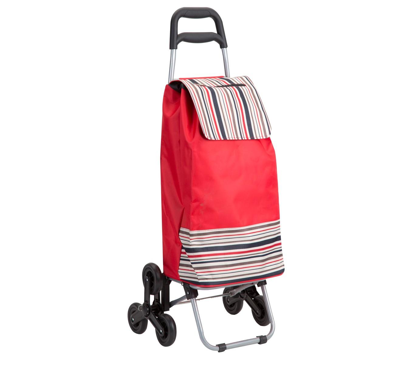 chariot de course rouge avec rayure wedestock. Black Bedroom Furniture Sets. Home Design Ideas